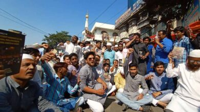 Photo of Students hold protest against CAA, NRC at Mehdipatnam