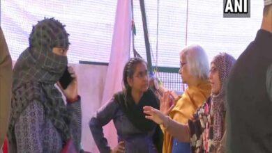Photo of SC interlocutor Sadhana Ramachandran arrives at Shaheen Bagh