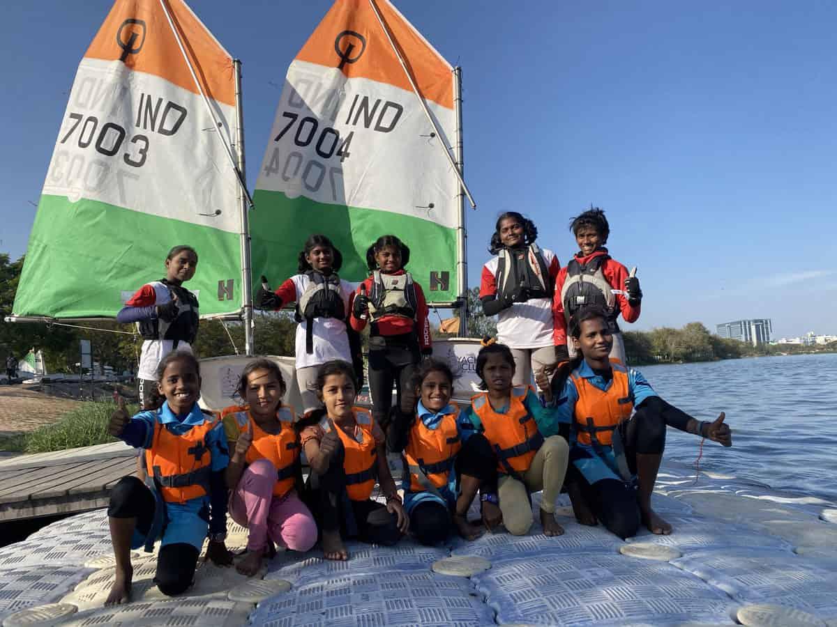 Two Telangana girls selected for World Sailing Championship