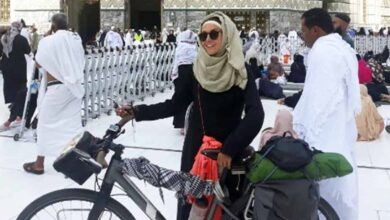 Photo of Sara Haba reaches Makkah  from Tunisia cycling for 53 days