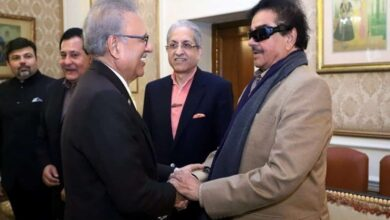 Photo of Shatrughan Sinha meets Pak President in Lahore