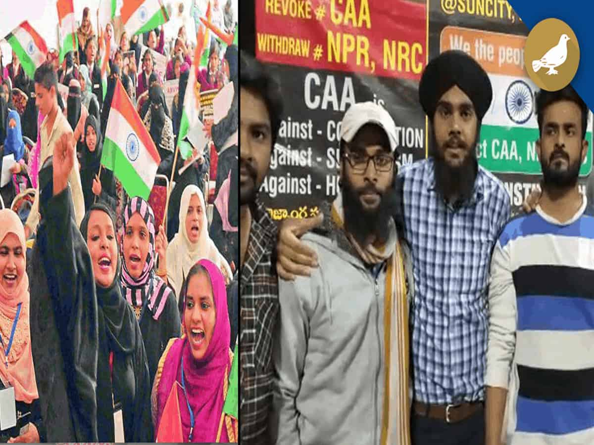 Hyderabad: Sikh brothers join Anti-CAA protest at Sun city