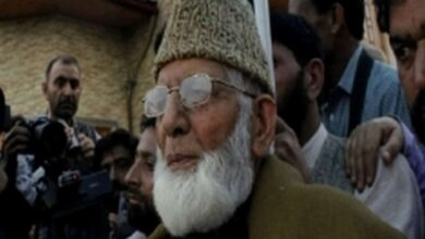 Photo of 2 arrested from Syed Ali Shah Geelani's residence in Srinagar