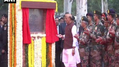 Photo of Rajnath Singh lays foundation stone for Thal Sena Bhawan