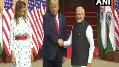 Photo of Modi-Trump meet at Hyderabad House, pose for handshake