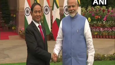 Photo of Myanmar President U Win Myint meets PM Modi