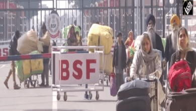 Pakistani Hindu families arriving in India via Wagah Border