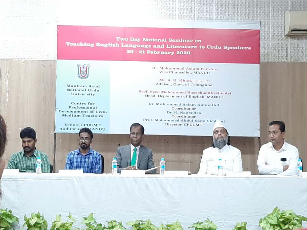 National Seminar of CPDUMT inaugurated at MANUU