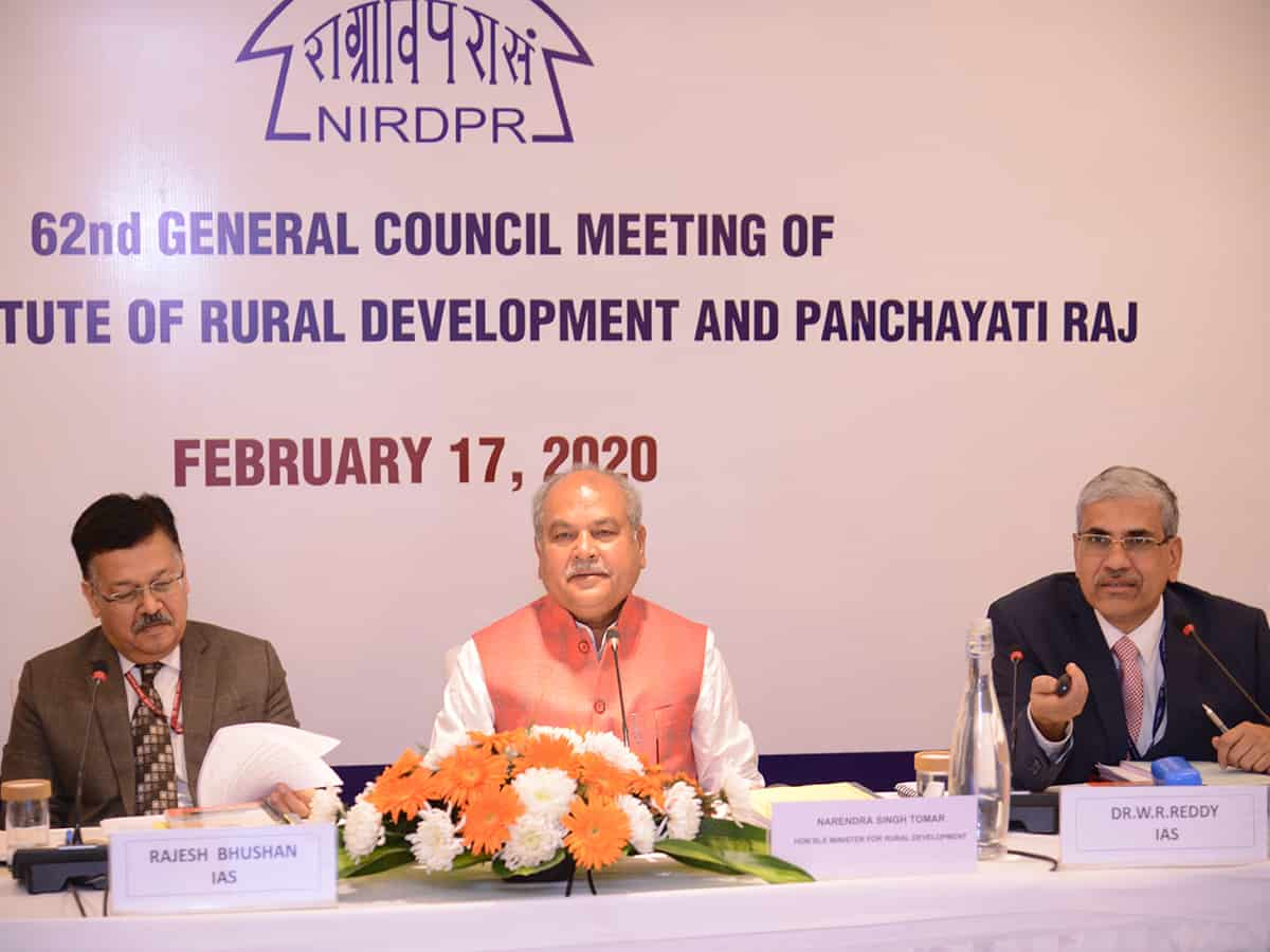 Rural Development Minister launches NIRDPR's e-learning portal