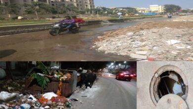 Photo of Bad roads in Hyderabad create havoc