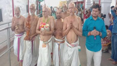 Photo of Special prayer held at Chilkur Temple for Coronavirus victims