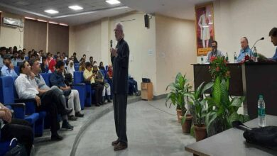 Photo of Panel Discussion on 'Spirituality at workplace' held in MANUU