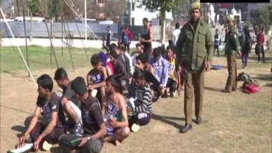 Photo of J-K youth participate in recruitment drive for border police