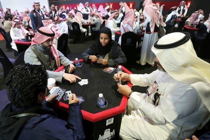 Saudi women playing baloot