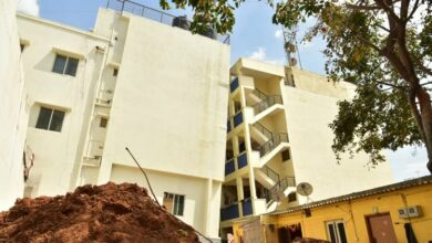 Photo of Tilting four-storey building in Bengaluru creates panic