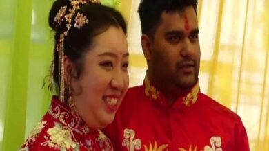 Photo of Chinese woman travels to India for an Indian wedding