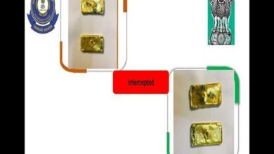 Photo of Gold bars worth Rs 26 lakh seized at IGI Airport, two held