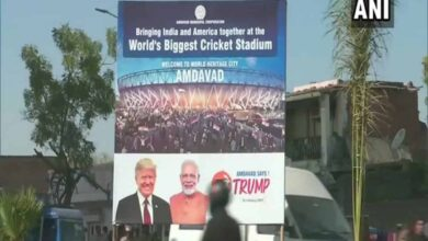 Photo of Ahmedabad decked up with hoardings to welcome President Trump