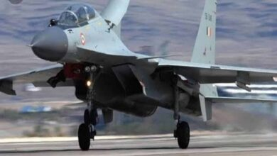 Photo of MIG 29K aircraft on training sortie crashes in Goa, pilot safe