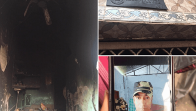 Photo of BSF Jawan's house with nameplate burned down in Delhi violence