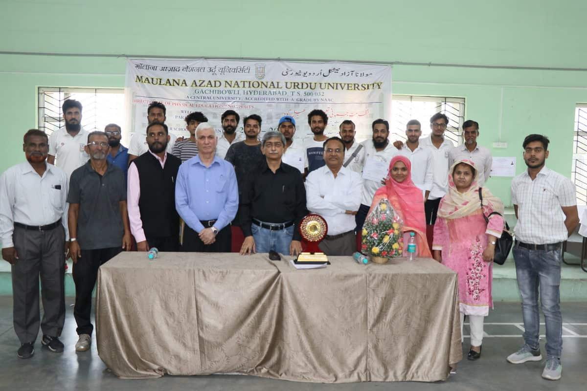 Inter-School tournament prize distribution ceremony at MANUU