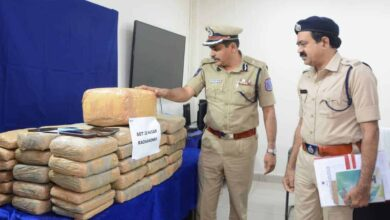 Photo of Ganja worth lakhs seized in TS, cops arrest 4 suspects