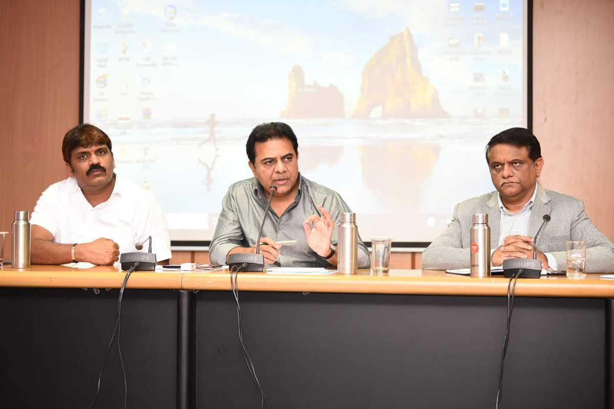 KTR instructs officials to tackle COVID-19 situation proactively