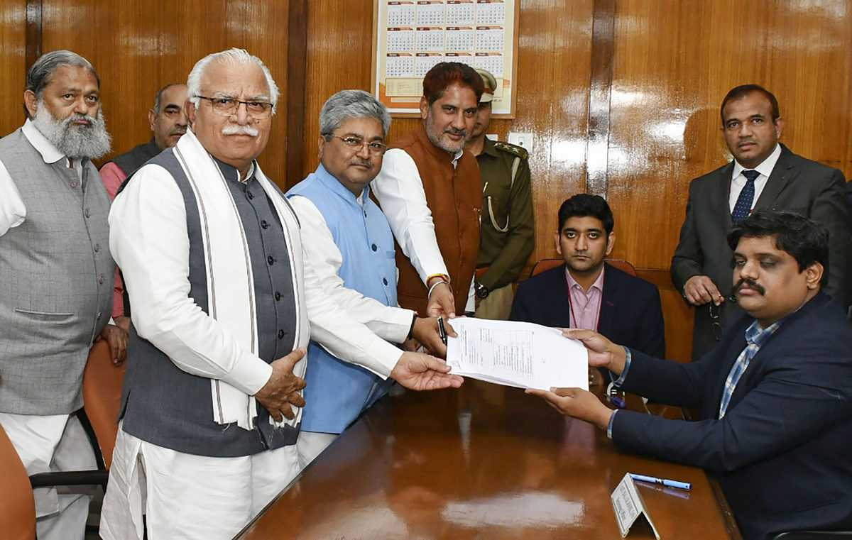 All party leader filing nomination for Rajya Sabha