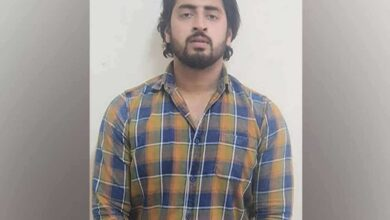 Shahrukh, the suspect who opened fire at police personnel during violence in North-East Delhi. Photo/ANI