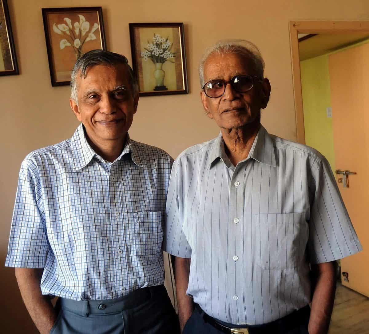Dasu Krishnamoorty with his brother Keshav Rao