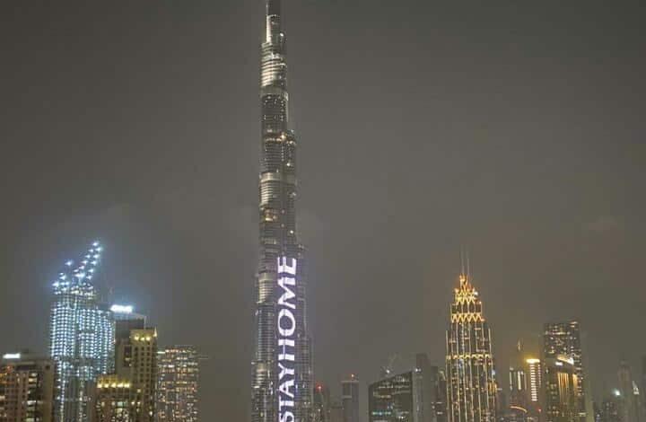 #StayHome: Dubai's Burj Khalifa lights up to alert residents