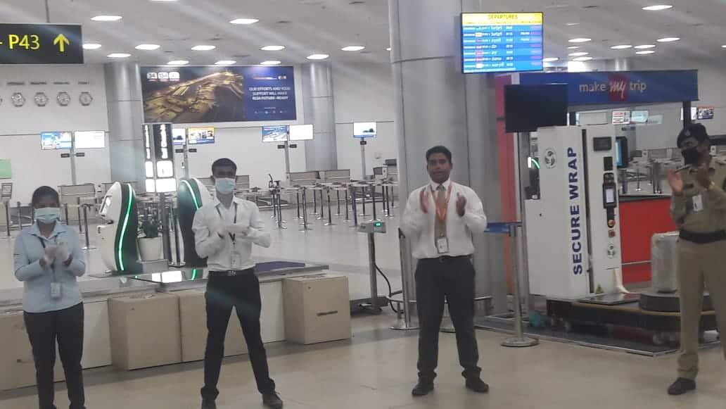 Janata curfew: Hyderabad airport expresses solidarity