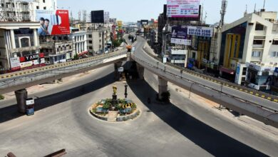 Photo of Hyderabad: Panjagutta flyover wears a deserted look