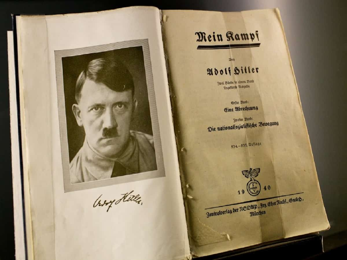 Mein Kampf authored by Hitler. Image: Newyork Times