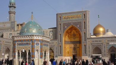 Imam Reza shrine in Mashhad, Iran.