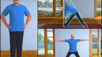 Photo of PM shares 3D animated videos of him practising yoga