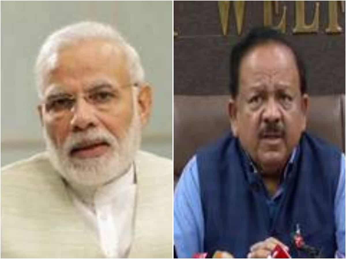 Narendra Modi and Harsh Vardhan