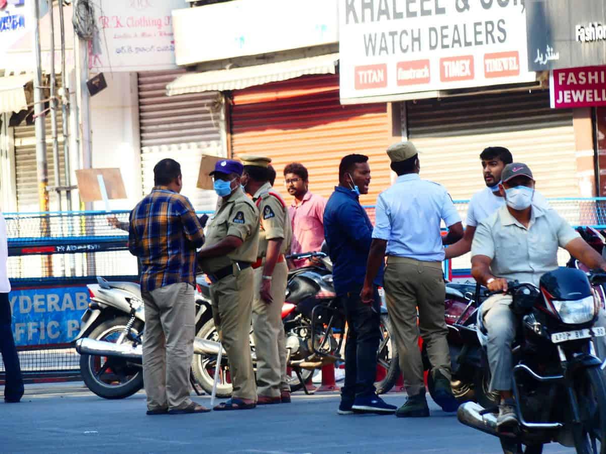 Hyd Traffic Police booked cases against 33k lockdown violators