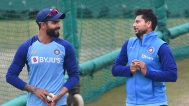 Photo of Practice session ahead of first ODI