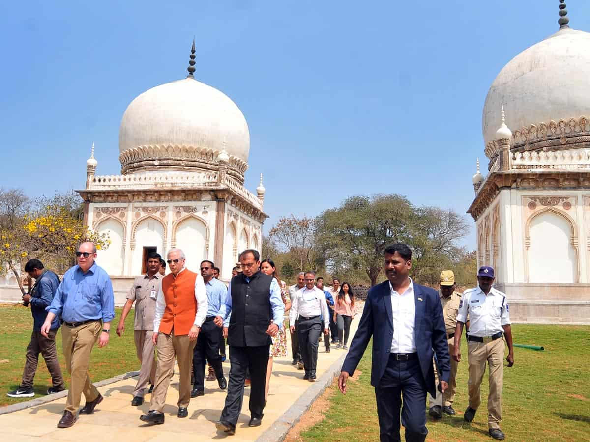 US Ambassador unveils refurbished Qutub Shahi Tombs in Hyderabad