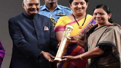 Photo of Padala Bhudevi receives Nari Shakti Puraskar