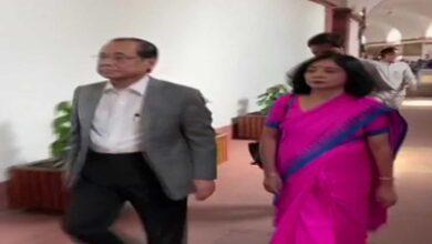 Photo of Ranjan Gogoi reaches Parliament, set to take oath as Rajya Sabha