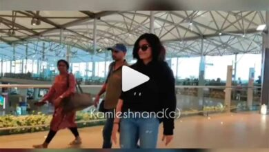 Photo of Rashmika shows off dance moves at Hyderabad Airport