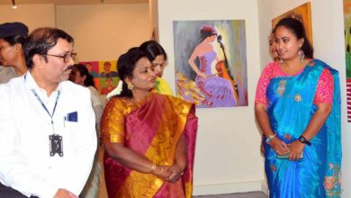 Photo of Governor opens show on Ikebana at Salar Jung Museum