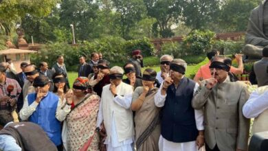 Photo of TMC MPs stage protest in Parliament premises over Delhi violence