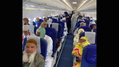 Photo of Indian Umrah pilgrims evacuated from Saudi Arabia
