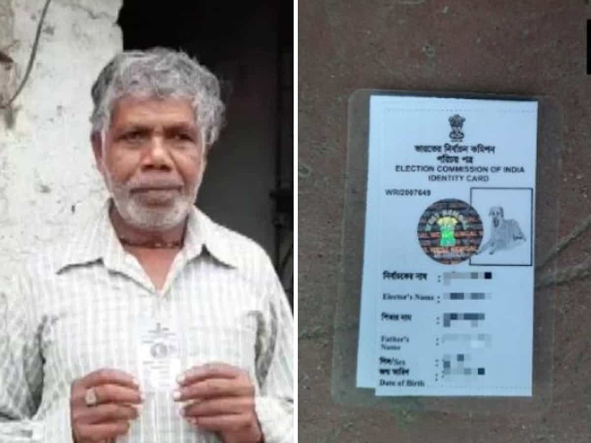 Bengal man issued voter ID card with dog's photo