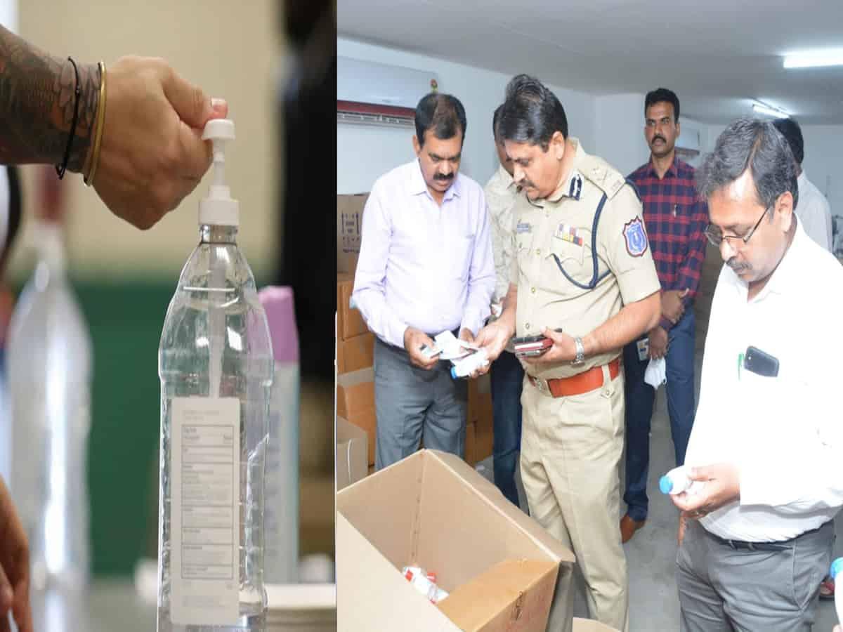 Fake hand sanitiser racket busted in Hyderabad