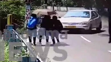 Photo of Horrific accident caught on cam: Car rams pedestrians