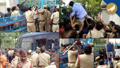 Photo of Tension at Telangana Assembly, lathi-charged on students